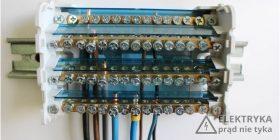 Rys. 3. Podłączenie pod blok rozdzielczy KTB-100-15 przewodów typu drut/linka.