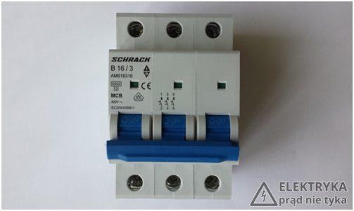 RYS. 8. Wyłącznik nadmiarowo-prądowy 3-fazowy