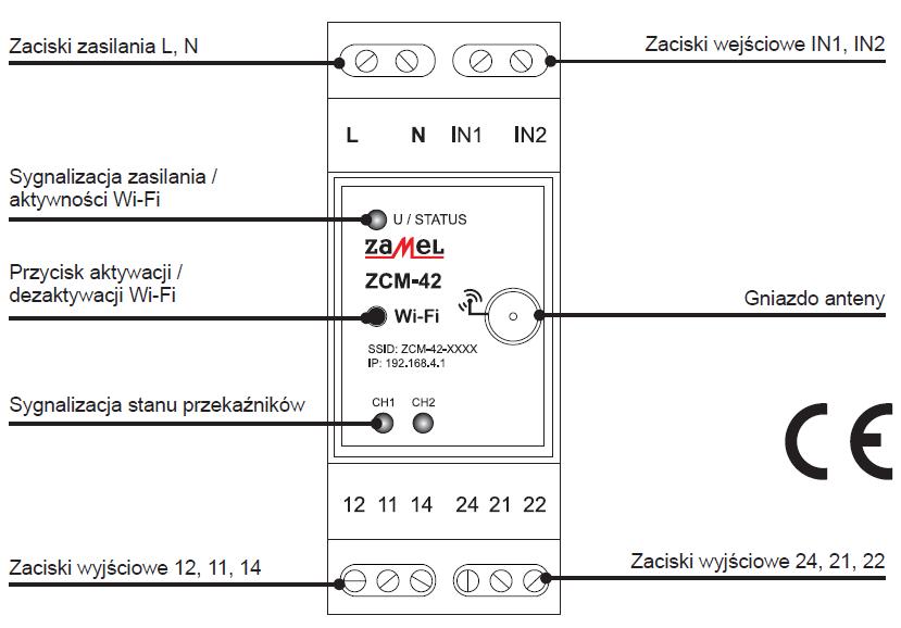 Programator czasowy ZCM-42 zamel exta opis urządzenia