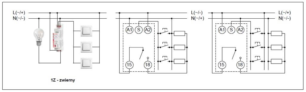 Schemat połączeń RPB-1ZMI-UNI